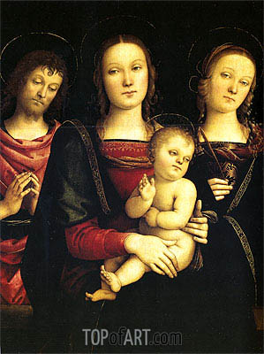 The Madonna and Child with St. John the Baptist and St. Catherine of Alexandria, c.1495 | Perugino | Painting Reproduction