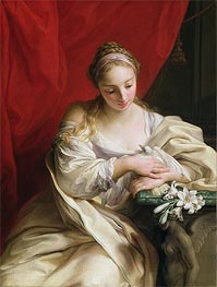 Purity of Heart, 1752 by Pompeo Batoni | Painting Reproduction