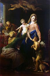 Holy Family with Sts Elizabeth and John the Baptist, 1777 by Pompeo Batoni | Painting Reproduction