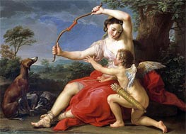 Diana and Cupid, 1761 by Pompeo Batoni | Painting Reproduction