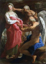 Time Orders Old Age to Destroy Beauty, 1746 by Pompeo Batoni | Painting Reproduction