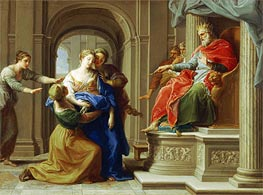 Esther Before Ahasuerus, c.1738/40 by Pompeo Batoni | Painting Reproduction