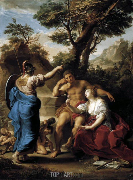 Hercules at the Crossroads, 1748 | Pompeo Batoni | Painting Reproduction