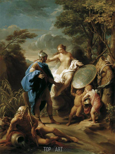 Venus Presenting Aeneas with Armour Forged by Vulcan, 1748 | Pompeo Batoni | Painting Reproduction