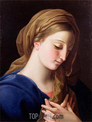The Virgin Annunciate,  | Pompeo Batoni | Painting Reproduction
