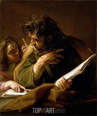 St Matthew,  | Pompeo Batoni | Painting Reproduction