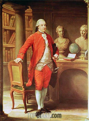 Portrait of Sir Thomas Gascoigne, 8th Baronet, 1779 | Pompeo Batoni | Painting Reproduction
