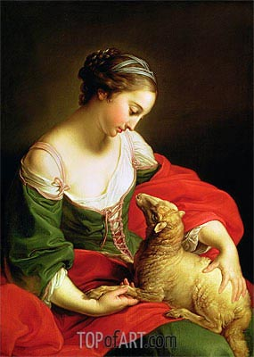 Meekness (Love),  | Pompeo Batoni | Painting Reproduction