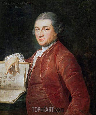 Portrait of David Garrick, 1764 | Pompeo Batoni | Gemälde Reproduktion