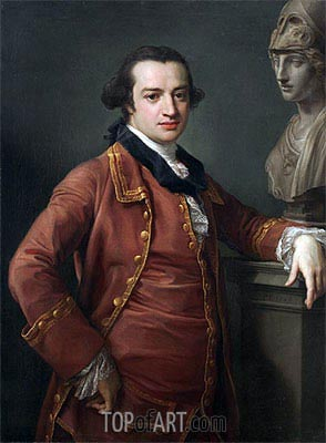 Portrait of John Monck, 1764 | Pompeo Batoni | Painting Reproduction