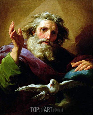 God the Father, 1740/43 | Pompeo Batoni | Gemälde Reproduktion
