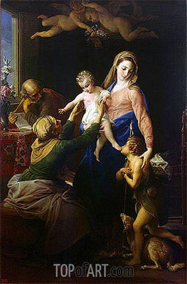 Pompeo Batoni | Holy Family with Sts Elizabeth and John the Baptist, 1777