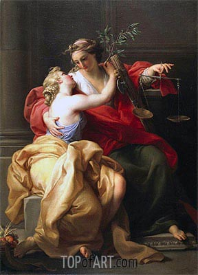 Pompeo Batoni | Peace and Justice, c.1745