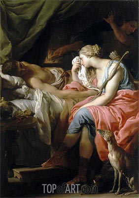 The Death of Meleager, c.1740/43 | Pompeo Batoni | Painting Reproduction