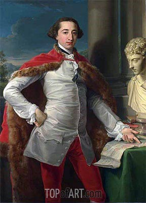 Portrait of Richard Milles, c.1760s | Pompeo Batoni | Painting Reproduction