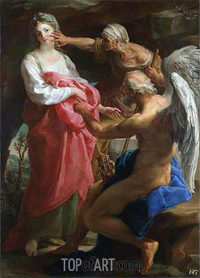 Time Orders Old Age to Destroy Beauty, 1746 | Pompeo Batoni | Gemälde Reproduktion