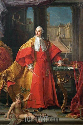 Portrait of Prince Abbondio Rezzonico, 1756 | Pompeo Batoni | Painting Reproduction