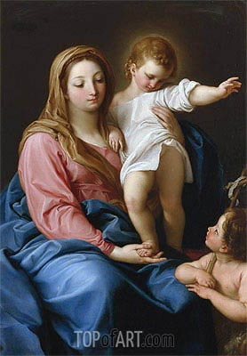 Pompeo Batoni | The Madonna and Child with the Infant Saint John the Baptist,