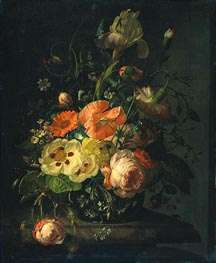 Still Life with Flowers on a Marble Tabletop, 1716 von Rachel Ruysch | Gemälde-Reproduktion
