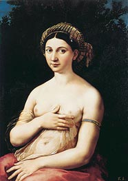 Portrait of a Young Woman (La Fornarina), c.1518/19 von Raphael | Gemälde-Reproduktion