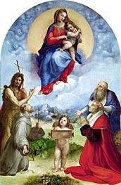 The Madonna of Foligno, c.1511/12 von Raphael | Gemälde-Reproduktion
