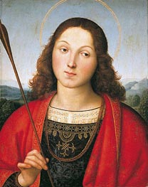 Saint Sebastian, c.1502/03 by Raphael | Painting Reproduction