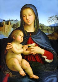 Madonna and Child with Book | Raphael | Gemälde Reproduktion