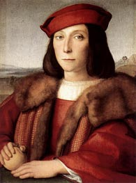 Young Man with an Apple | Raphael | Painting Reproduction