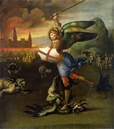 Saint Michael and the Dragon | Raphael | Painting Reproduction