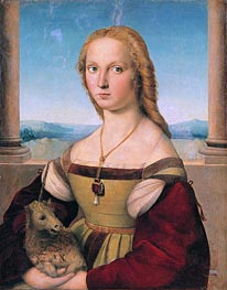 Lady with a Unicorn, c.1505/06 by Raphael | Painting Reproduction