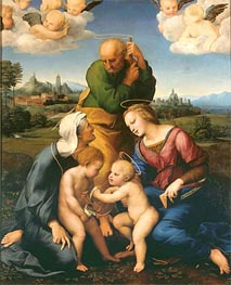 The Canigiani Holy Family, c.1505/06 von Raphael | Gemälde-Reproduktion