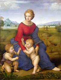 Madonna of Belvedere (Madonna del Prato), c.1505/06 by Raphael | Painting Reproduction