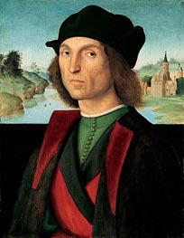 Portrait of a Man, c.1502/04 by Raphael | Painting Reproduction
