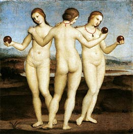 The Three Graces, c.1504/05 by Raphael | Painting Reproduction