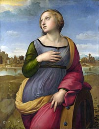 Saint Catherine of Alexandria, c.1507 by Raphael | Painting Reproduction