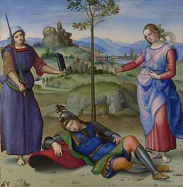 An Allegory (Vision of a Knight), c.1504 by Raphael | Painting Reproduction