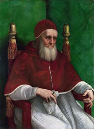 Portrait of Pope Julius II, 1511 by Raphael | Painting Reproduction
