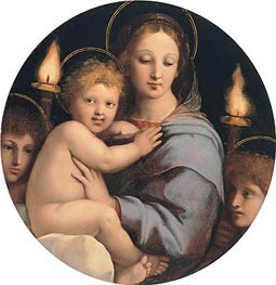 Madonna of the Candelabra, c.1513 by Raphael | Painting Reproduction