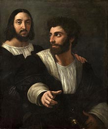 Self Portrait with a Friend | Raphael | Gemälde Reproduktion