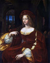 Portrait of Dona Isabel de Requesens, Vice-Queen of Naples (Portrait of Jeanne of Aragon) | Raphael | Gemälde Reproduktion