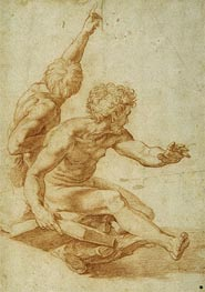 St. Andrew and Another Apostle in 'The Transfiguration' | Raphael | Gemälde Reproduktion