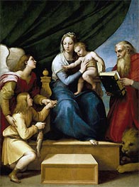 The Holy Family with Raphael, Tobias and Saint Jerome (The Virgin with a Fish) | Raphael | veraltet