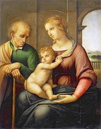 Holy Family (Madonna with Beardless Joseph), c.1505/06 by Raphael | Painting Reproduction