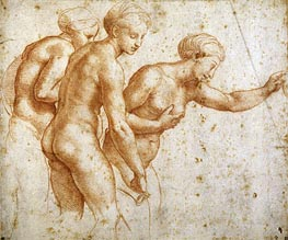 The Three Graces, undated by Raphael | Painting Reproduction