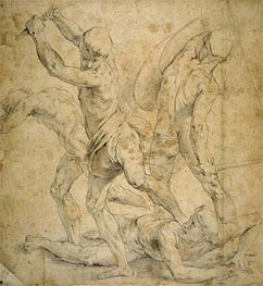 Drawing for The School of Athen's, undated by Raphael | Painting Reproduction