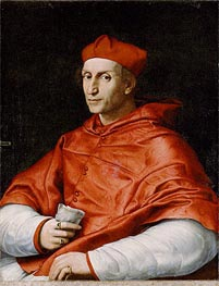 Portrait of Cardinal Bernardo Dovizzi Bibbiena, c.1514/16 by Raphael | Painting Reproduction