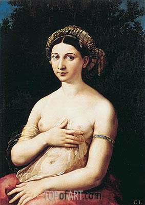 Portrait of a Young Woman (La Fornarina), c.1518/19 | Raphael| Gemälde Reproduktion