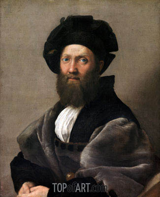 Portrait of Baldassare Castiglione, c.1514/16 | Raphael| Painting Reproduction