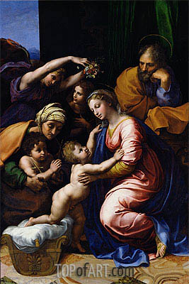 Raphael | The Holy Family (Grande Famille of Francois I), 1518