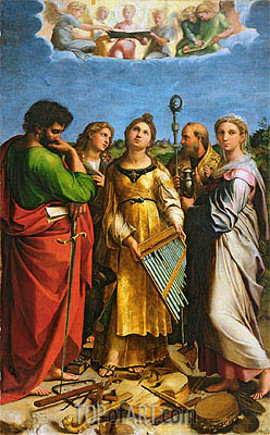 The Saint Cecilia Altarpiece, c.1513/14 | Raphael | Painting Reproduction